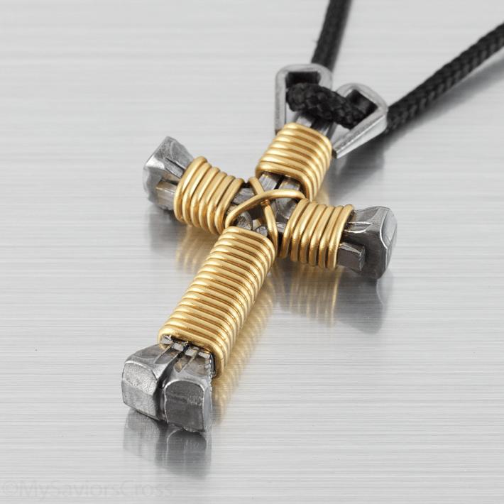 brass-cross-necklace
